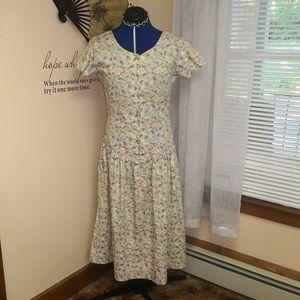 Vintage 1980s does 1920s floral dress